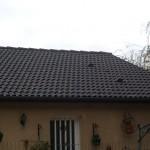 Avant nettoyage de la toiture