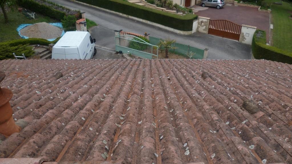 Imperméabilisation d'une toiture béton avant