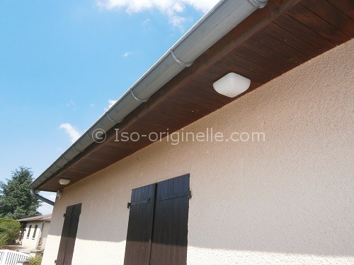 Passe de toit en bois marron
