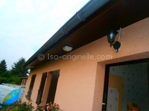 Habillage des passes de toit en PVC marron