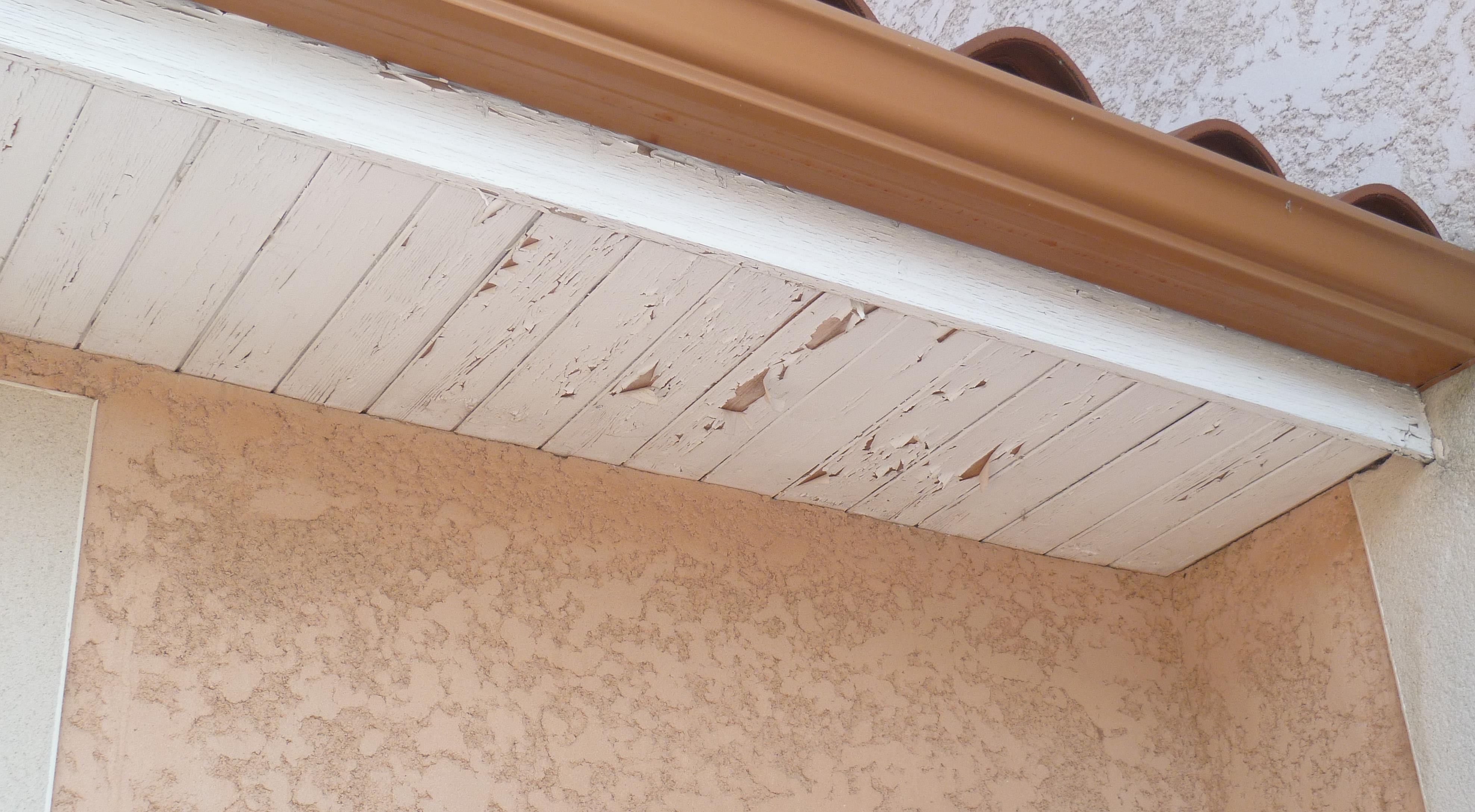 passe de toit en bois