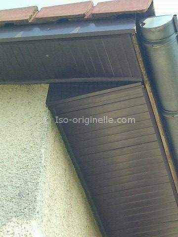 Habillage des sous faces en PVC marron