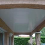 Habillage lame PVC blanc terrasse