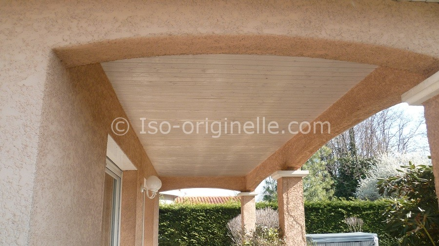 Habillage lame PVC terrasse